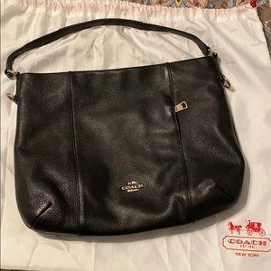 Black Leather Coach hobo bag